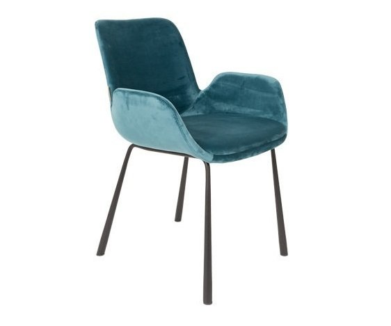 Кресло Brit с обивкой из вельветовой ткани