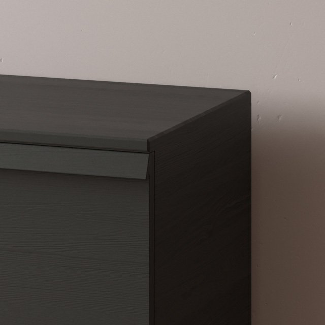 Комод Lina-1 120х50 с выкатными ящиками цвета орех