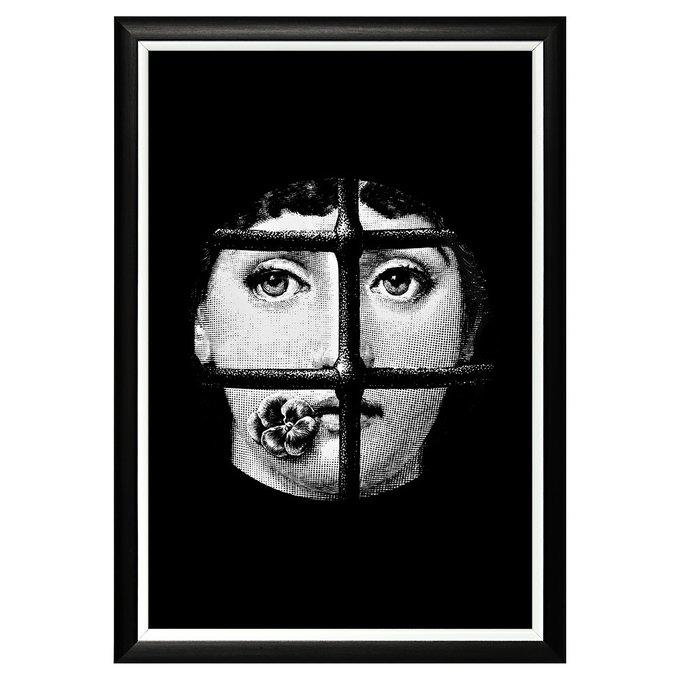 Арт-постер Лина версия Пленительный образ в черно-белой раме
