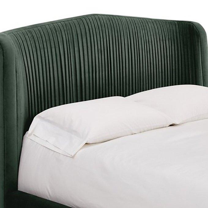Кровать Clio Panel темно-зеленого цвета 180x200