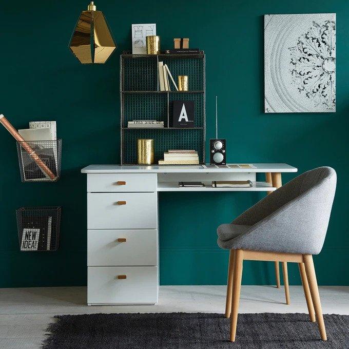 Письменный стол Jimi бирюзового цвета
