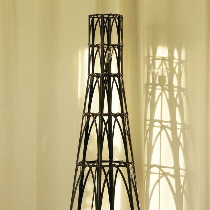 Металлический торшер башня Лас