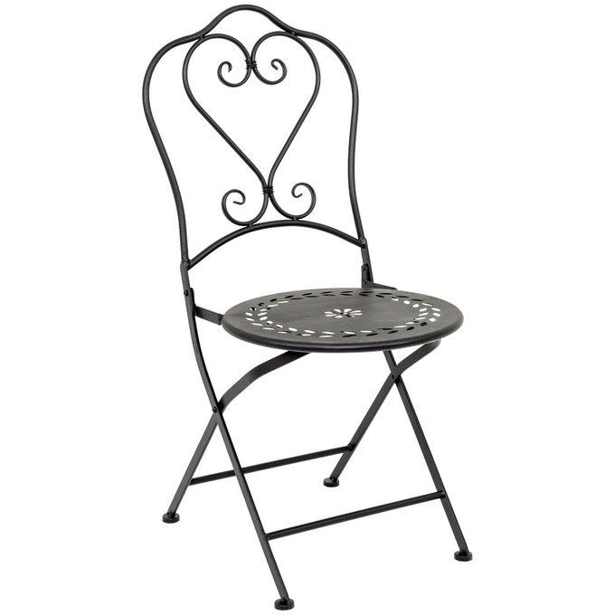 Складной стул Жарден черный антик