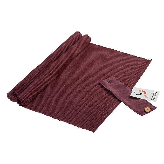 Набор салфеток под приборы бордового цвета