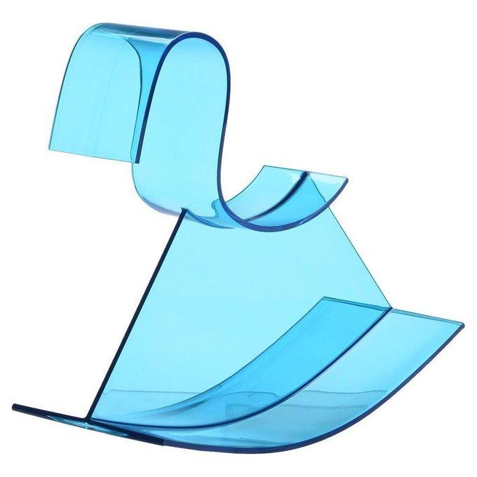 Детское кресло-качалка H-Horse глянцево-голубого цвета
