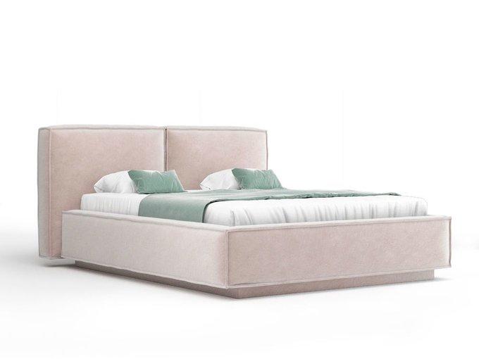 Кровать Verde бежевого цвета с ортопедическим основанием 160х200