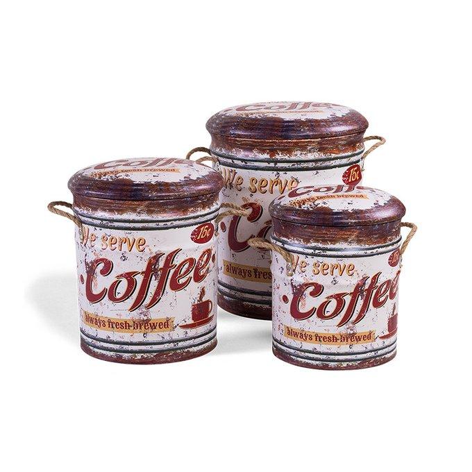 Сет из трех пуфов Coffee из экокожи