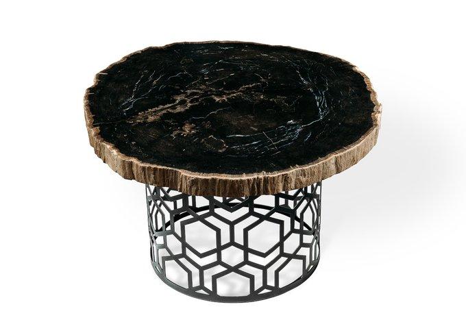 Журнальный стол Палиат из окаменелого дерева 381494