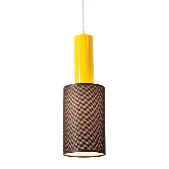 Подвесной светильник Roller с абажуром черного цвета