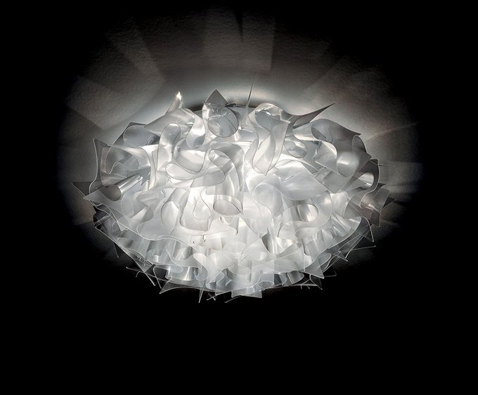 Настенно-потолочный светильник Veli Large Prisma белого цвета