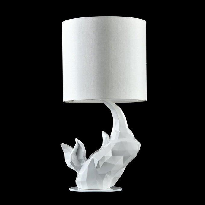 Настольная лампа Nashorn белого цвета