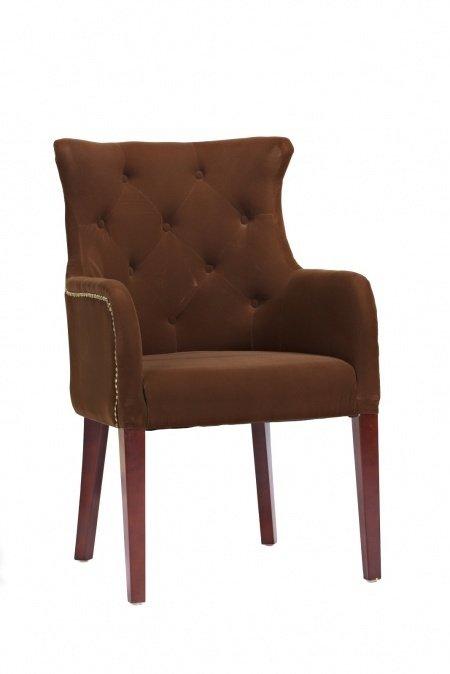 Кресло Rochester коричневого цвета