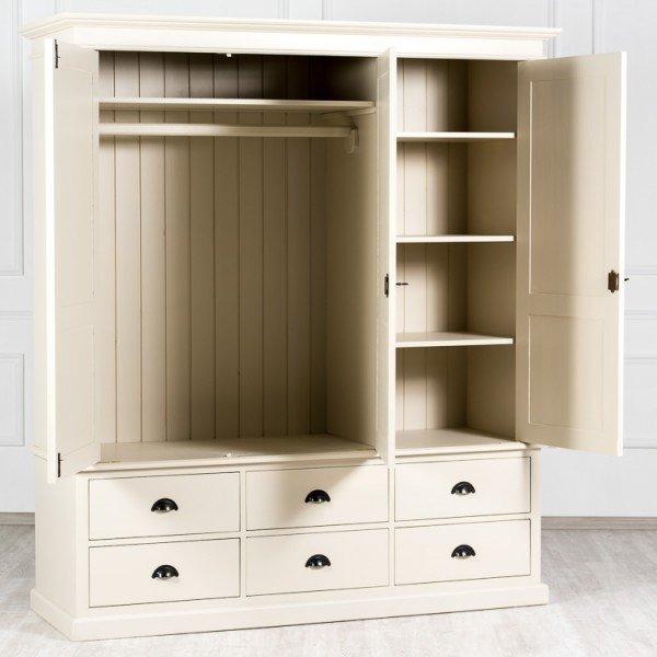 Большой платяной шкаф Léonarde с дверцами и ящиками