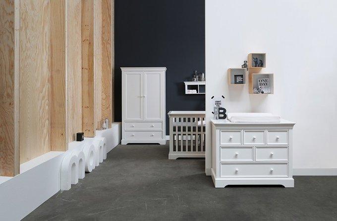 Кровать детская Marseille белого цвета