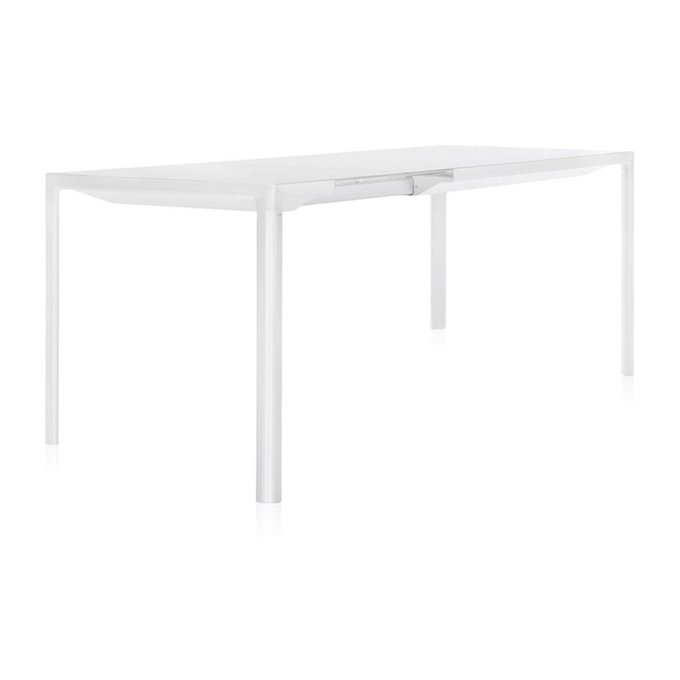 Обеденный стол раздвижной Zoom белого цвета