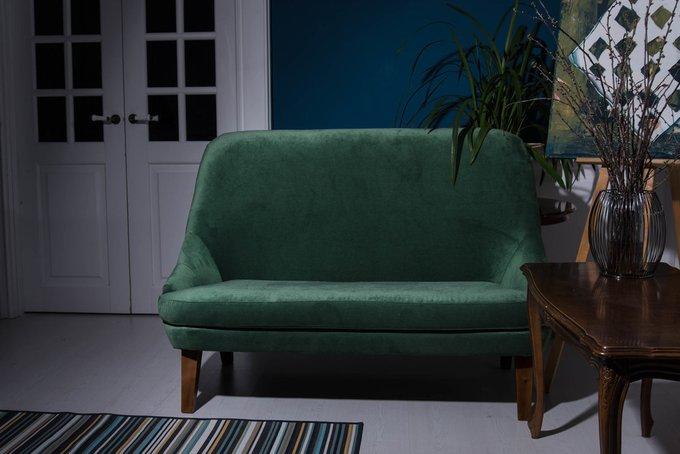Диван Carmel mini L зеленого цвета