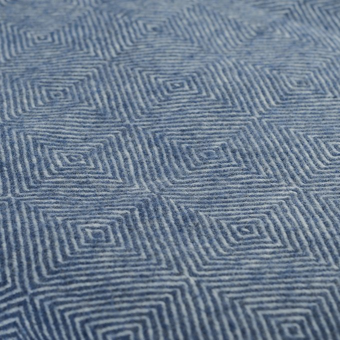 Плед Essential из шерсти мериноса синего цвета 130х180