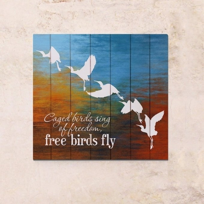 Картина на дереве Птицы