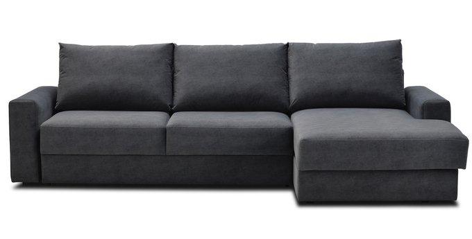 Угловой диван-кровать Вегас темно-серого цвета
