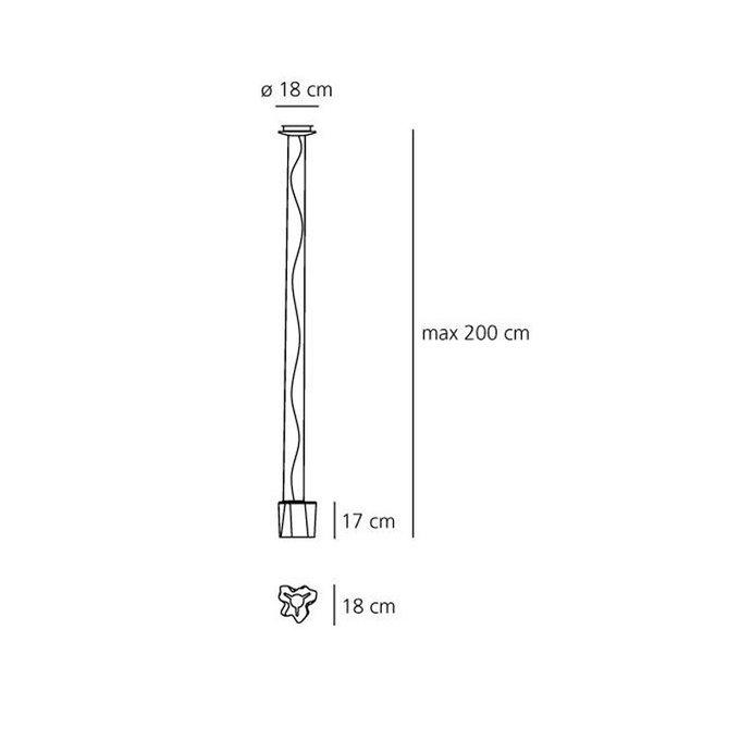 Подвесной светильник Artemide Logico из выдувного стекла с шелковой полировкой