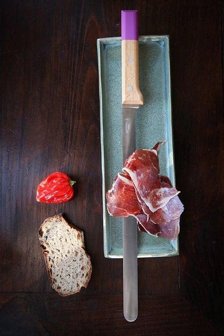 Нож кухонный Parallele для карпаччо из стали и натурального бука