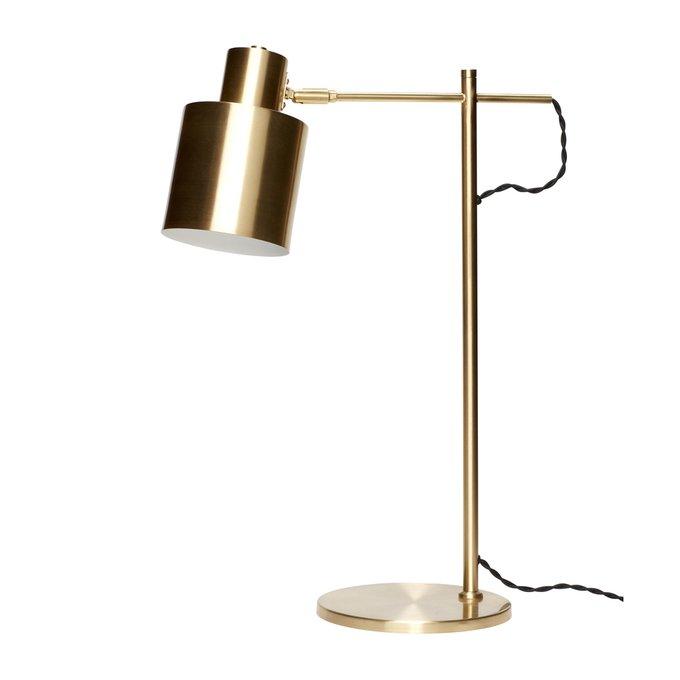 Настольная лампа латунного цвета