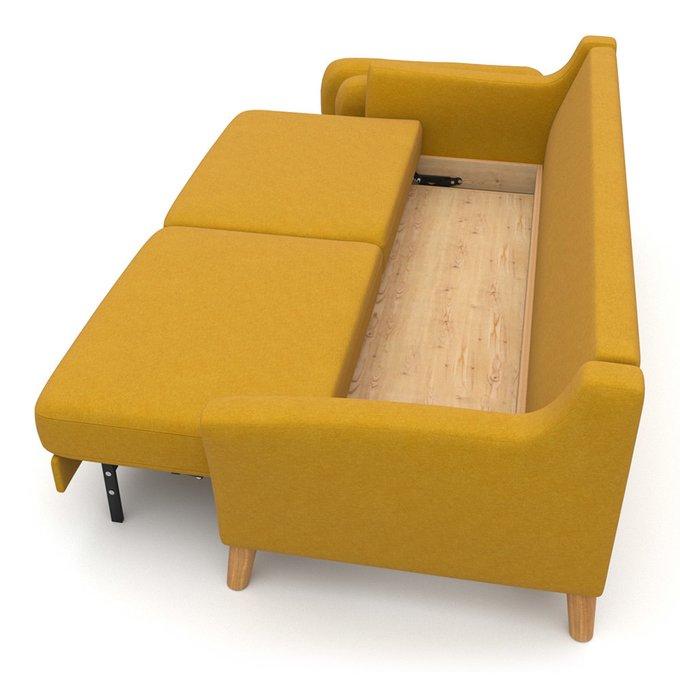 Диван-кровать Raf EKH трехместный желтый