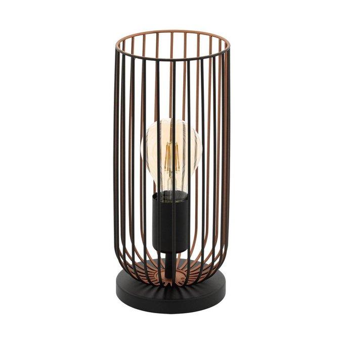 Настольная лампа Roccamena черного цвета