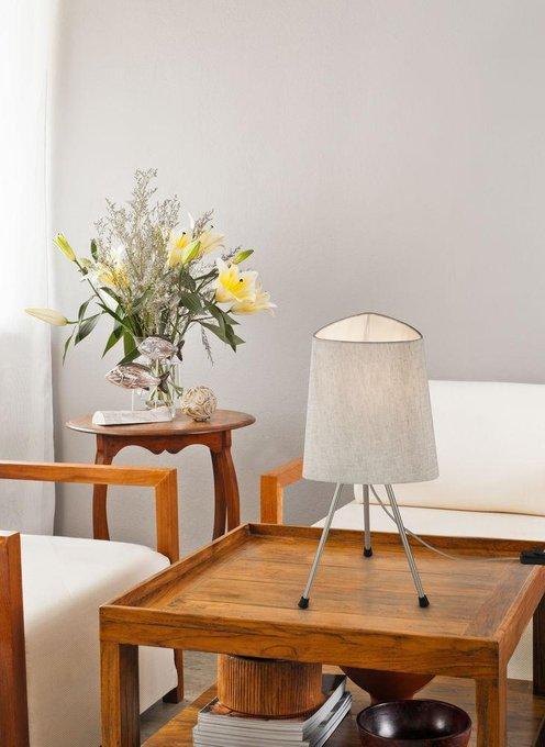 Настольная лампа Comfort с бежевым абажуром