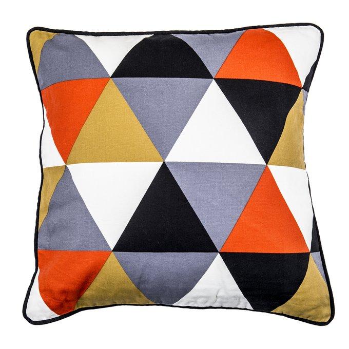 Декоративная подушка Geomy с контрастными треугольниками