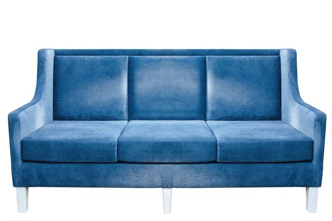 Прямой диван Cade синего цвета