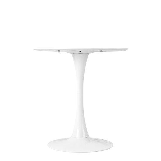Стол Tulip с круглой столешницей белого цвета 70х73