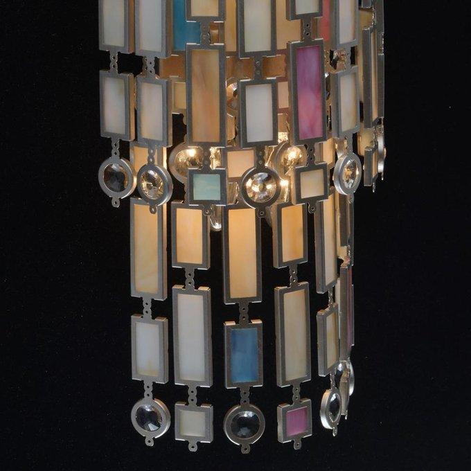 Настенный светильник Марокко из металла и стекла