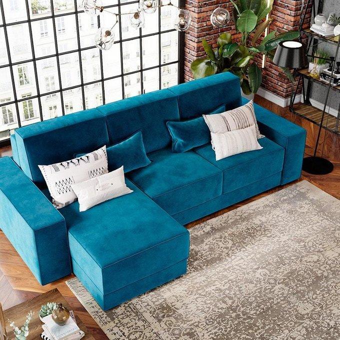 Угловой диван-кровать Модесто серого цвета