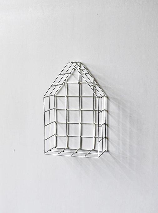 Полка-домик White S белого цвета