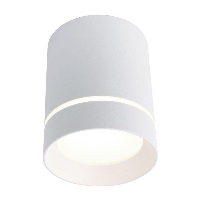 Потолочный светодиодный светильник из металла белого цвета