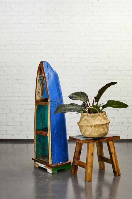 Стеллаж из лодки малый Фрэнсис из старой рыбацкой лодки