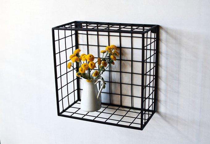 Полка Cube из металла черного цвета