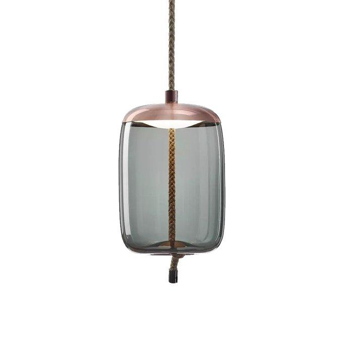 Подвесной светильник Knot B из стекла голубого цвета