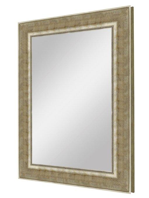 """Зеркало большое в широкой раме """"Теплое Серебро"""""""