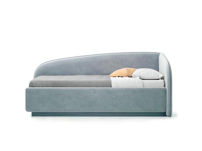 Кровать Amelia серого цвета с решеткой 90х190