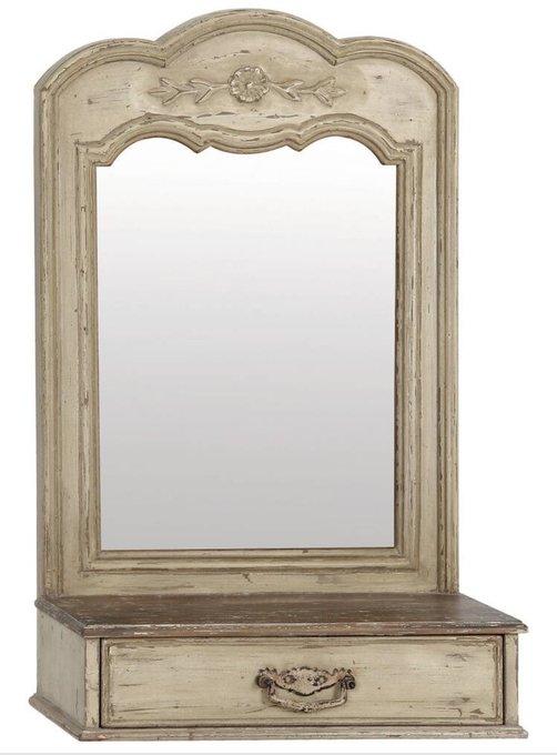 Зеркало для прихожей Поместье с ящичком