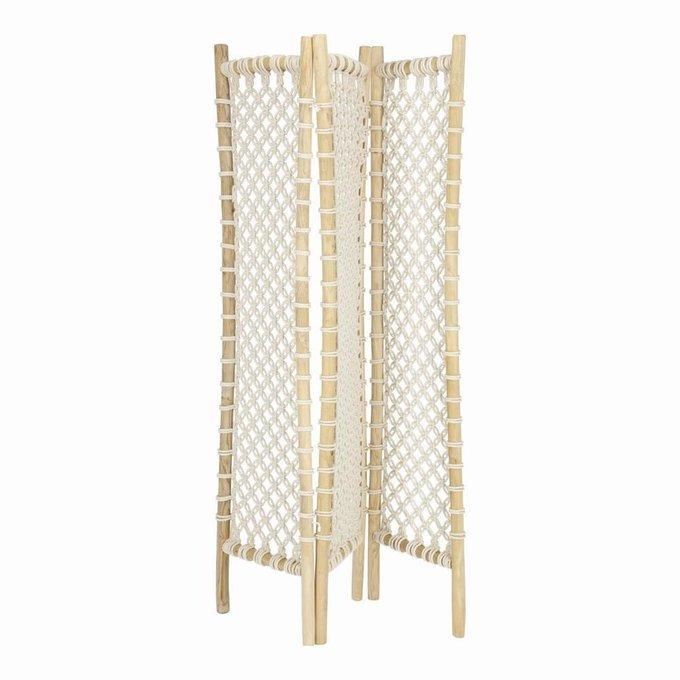 Ширма Praxila folding screen из плетенной веревки
