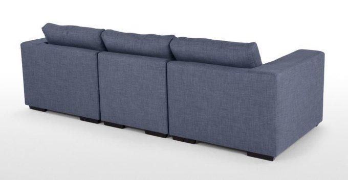 Трехместный диван Morti синего цвета