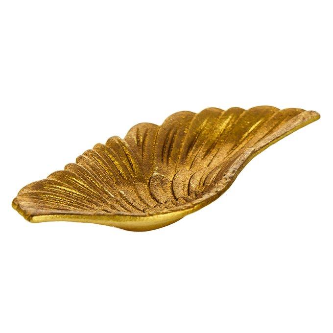 Подставка для колец Wing золотого цвета