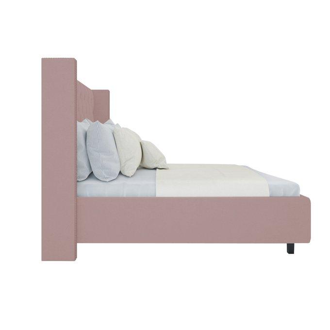 Кровать Wing Велюр Пыльная роза 180x200