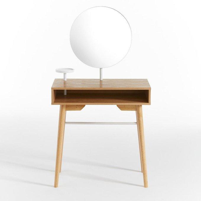 Туалетный столик Agura с круглым зеркалом