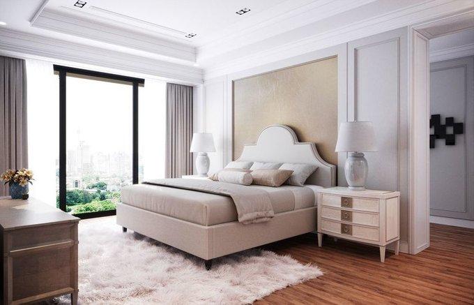 Кровать Бриэль 180х200 серого цвета  с подъемным механизмом