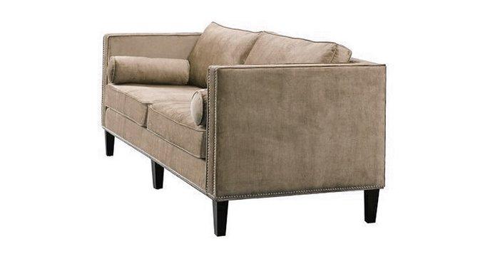 Прямой диван Габриэль серого цвета