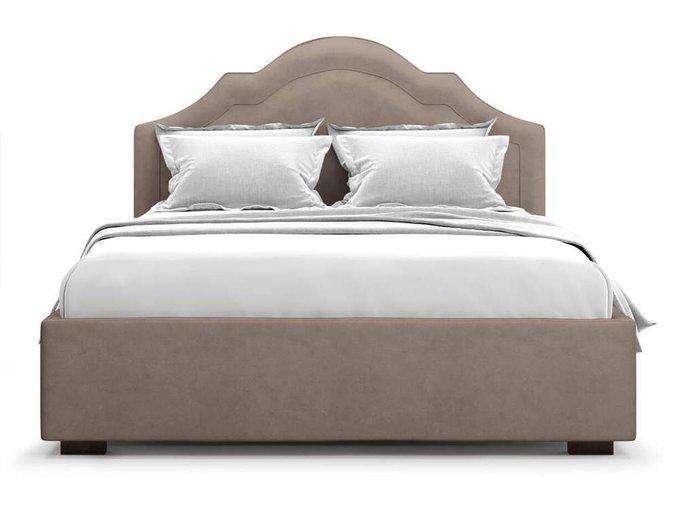 Кровать Madzore без подъемного механизма 140х200 коричневого цвета
